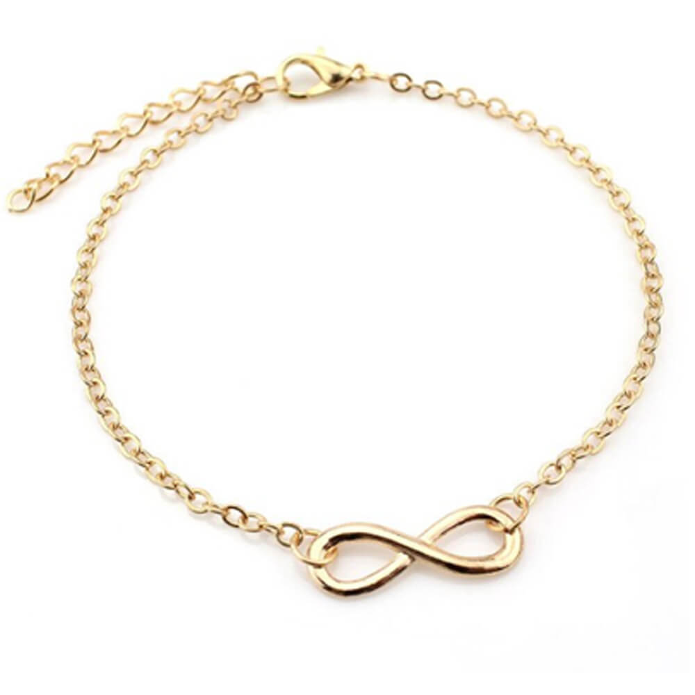 Bow Anklet for women - Golden
