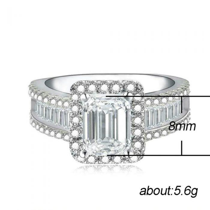 AAA Zircon Ring For Women High Quality Silver