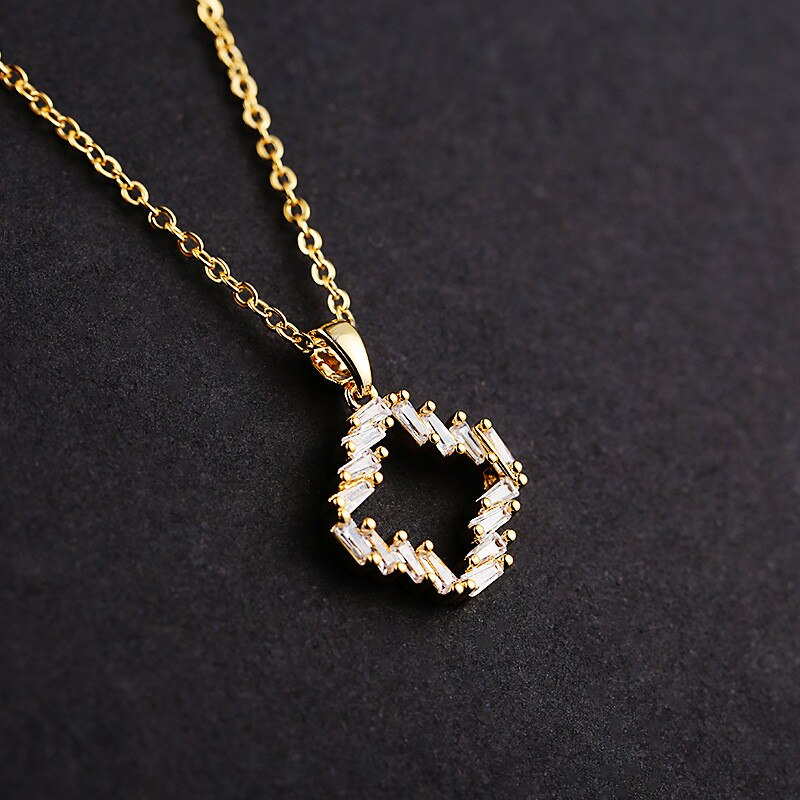 Gold Plated - Necklace For Women With Pendant - Gold