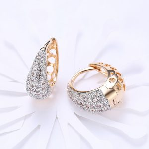Gold Plated - AAA Zircon - Earring - For Women Ladies - Gold