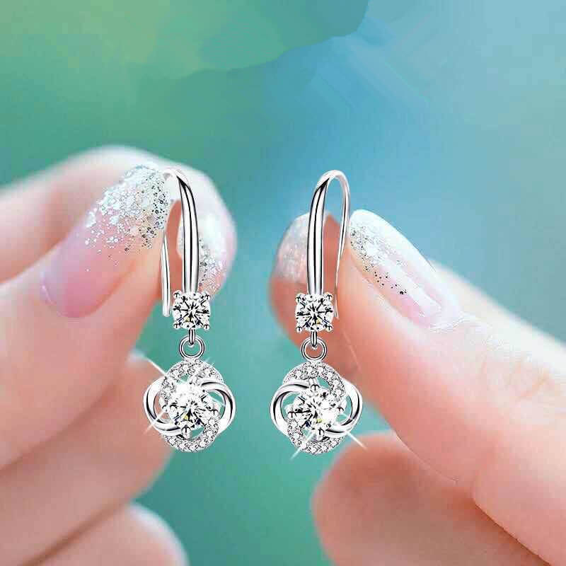 AAA Zircon - Drop Earring For Women - SilverAAA Zircon - Drop Earring For Women - Silver