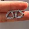Triangular Stud Earring Sterling Silver Filled