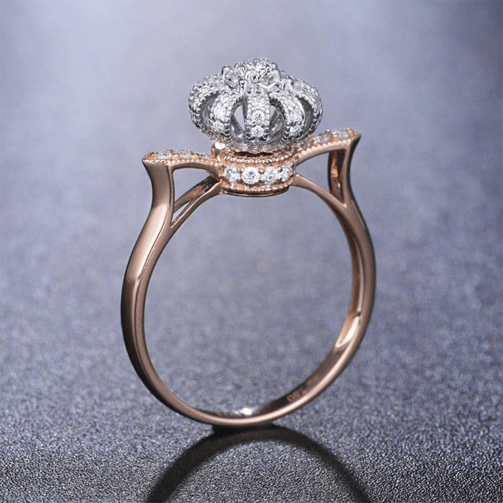 Crown Ring Silver Gold High Quality