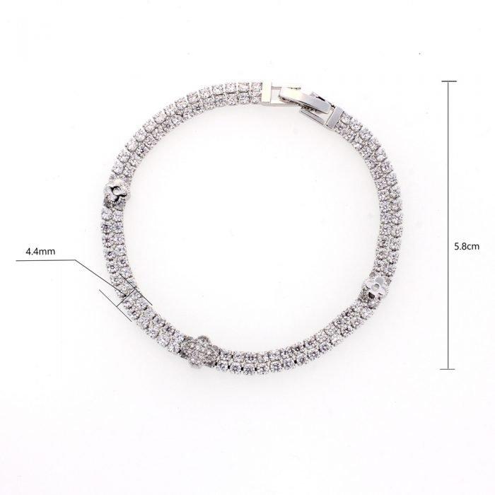 AGB0062 - Silver Sparkling Crystal Bracelet