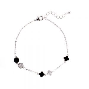 AGB0064 - Silver Women's Fashion Crystal Bracelet
