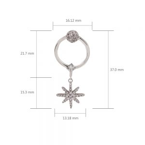 AGE0023 - Silver Sparkling Crystal Fashion Earring
