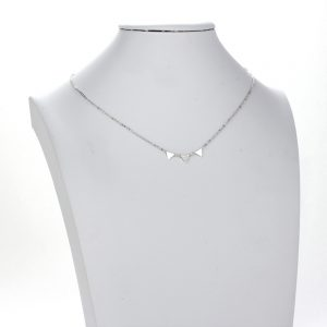 AGN0020 - Sparkling Silver Plated Crystal Triangle Necklace