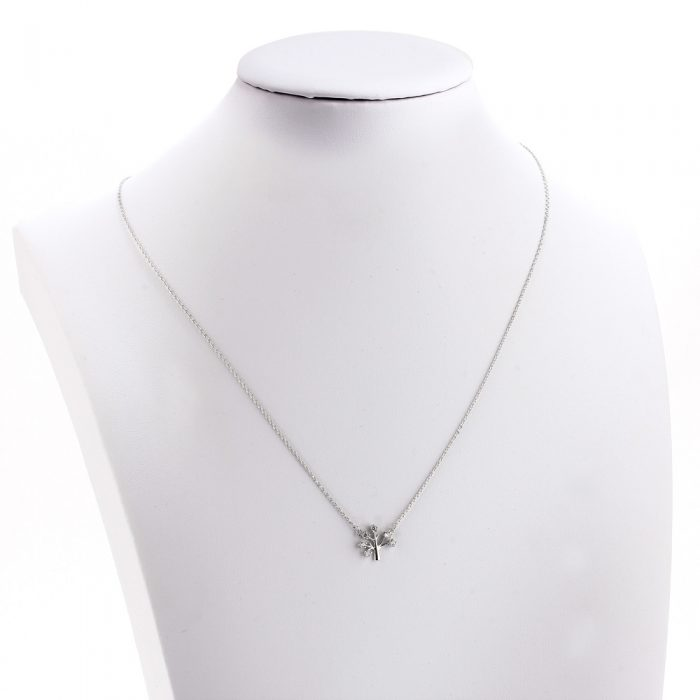 AGN0041 - Sparkling Silver Plated Crystal Tree Necklace