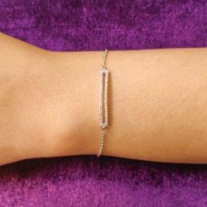 AGB0069 - Silver Sparkling Fashion Crystal Bracelet