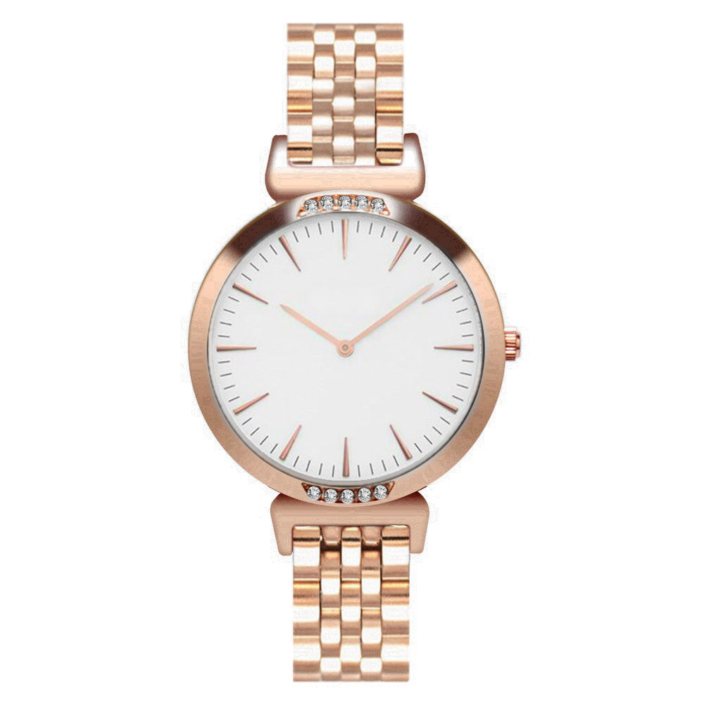 SAW23 - Rose Gold Watch with White Dial