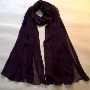 Chocolate Chiffon Dupatta Large Soft