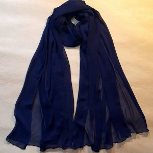 Navy Chiffon Dupatta Large Soft