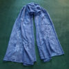 blue Embroided Stole Scarf For Ladies