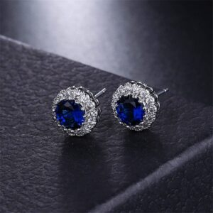 earring with blue stone