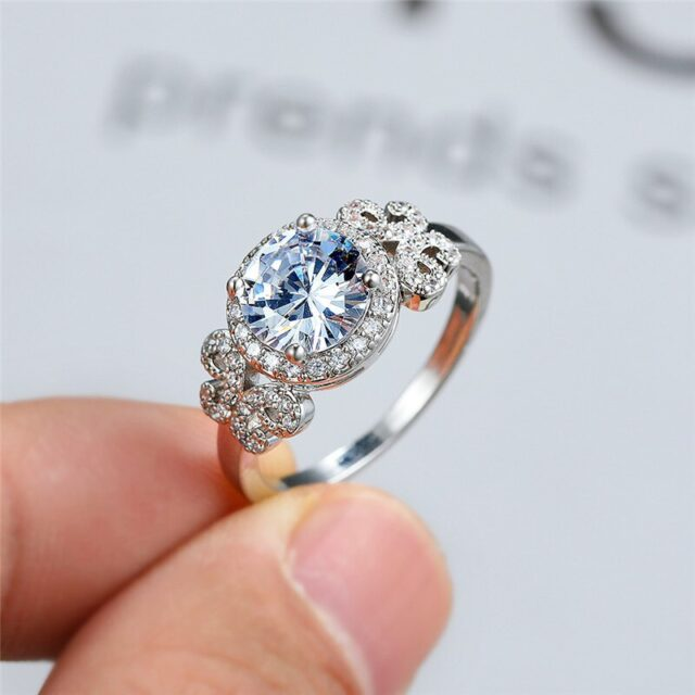 New-Fashion-Female-White-Crystal-Ring-Vintage-Silver-Color-Wedding-Rings-For-Women-Cute-Zircon-Butterfly-in-pakistan