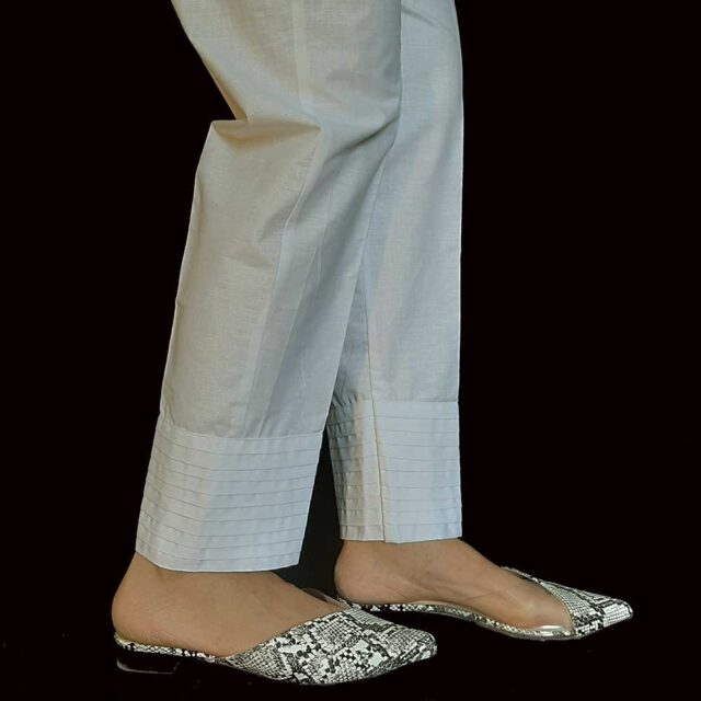 pleated trouser offwhite