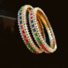 1 - multi zircon bangles for women
