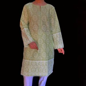 Women Designer clothes-embossed cotton kurti