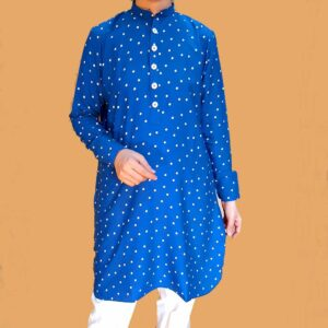 Women Designer clothes-polka dot kurti