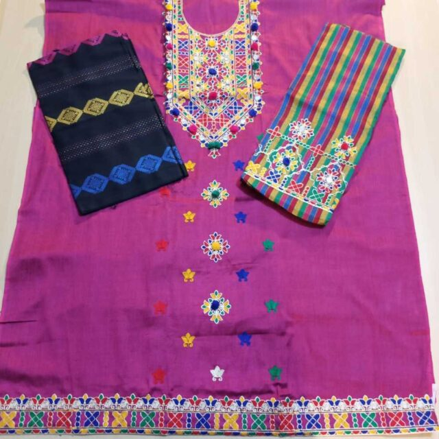 3 Piece - Unstitched - Embroided Susi Dress -