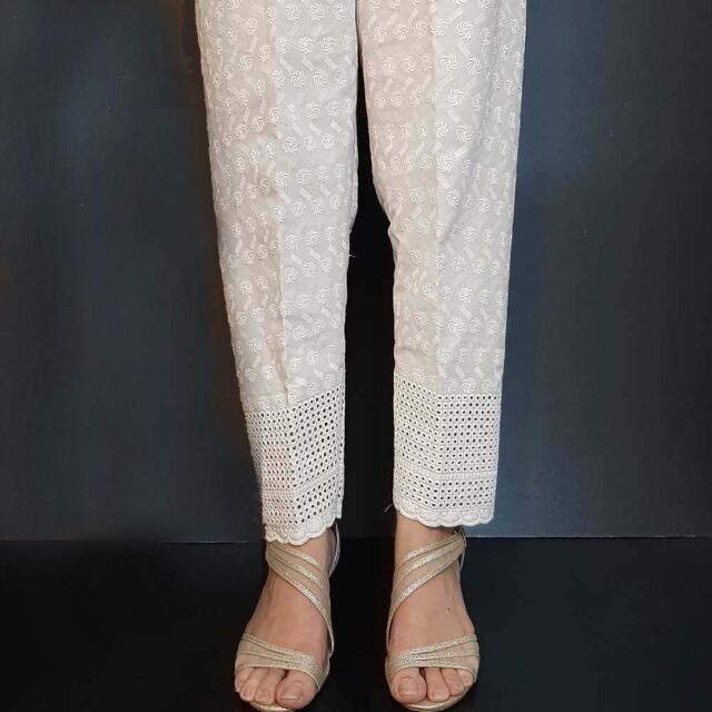 Chikankari Soft Cotton Trouser