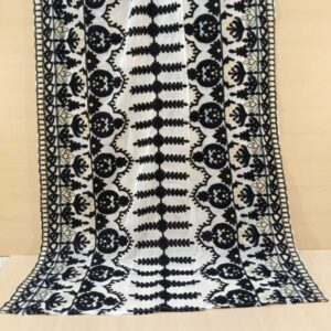 Embroided Net Dupatta Large White