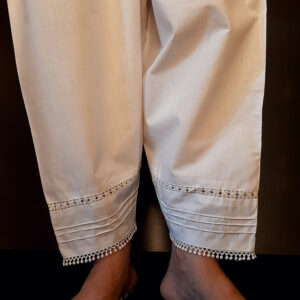 Laces Embellished Cotton Shalwar