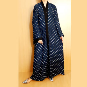 Printed Front Open Abaya For Summer BGA36-