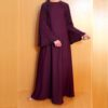 Beaded Fancy Abaya Nidah Fabric