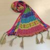 Chiffon Crush Dupatta With Bottom Tassel Multi
