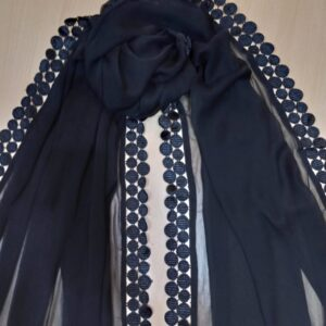 Chiffon Dupatta With 4 Sided Lace