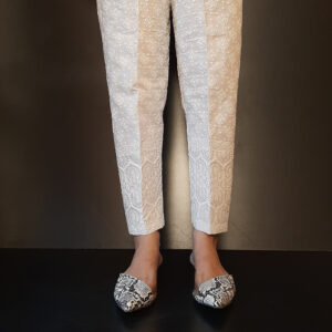 Embossed Cotton Trouser