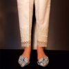 Embroided Cotton Trouser