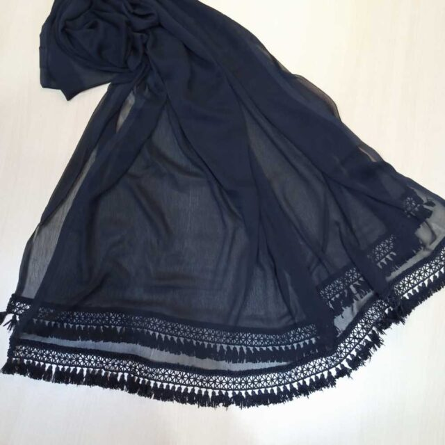 Large Chiffon Dupatta With Bottom Lace