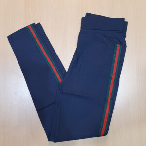 Navy Jeggings Jeans Stretchable Cotton With Pockets