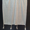 Net Dupatta With Bottom Tassels White Gold