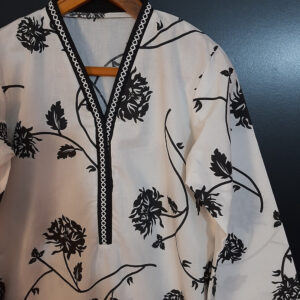 Printed Cotton Kurti With Lace