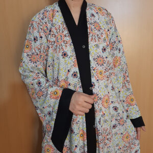Printed Front Open Abaya For Summer