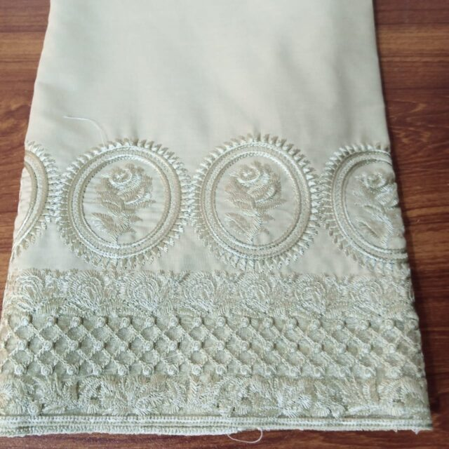 Unstitched Embroided Trouser Fabric Cotton 2 Yard