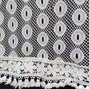White Net Dupatta With Bottom Lace