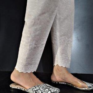 Chikankari Trouser Soft Cotton