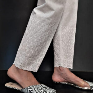 Chikankari Trouser Soft Cotton
