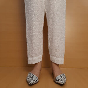 Chikankari Trouser Soft Cotton White