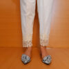 Embroided Trouser Off-White Cotton