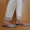 Embroided Trouser Pant Cotton White