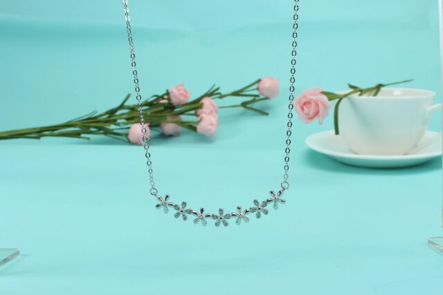 Silver Floral Necklace