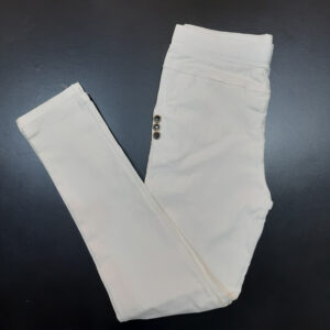 White Jeggings Jeans Stretchable Cotton With Pockets