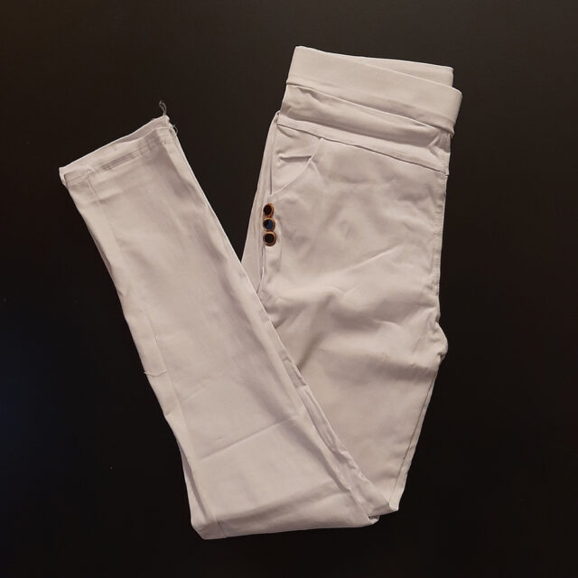off-White Jeggings Jeans Stretchable Cotton With Pockets