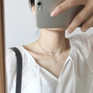 Silver Double Layer Necklace