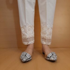 Embroided Trouser Pant Cotton